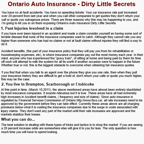 Car Insurance  Year Old Male Ontario