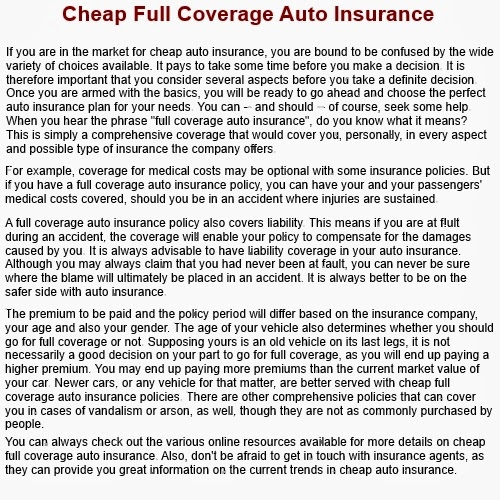 Cheap Car Insurance Companies Not On Comparison Sites